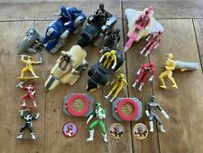 Power Rangers Lot McDonalds 1995 Ninjazords, 1993 mini figures, buckles & coins