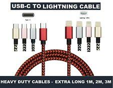 Carga rápida USB Cable de iluminación tipo C a C para iPhone 8 X XS XR Max 11 Pro