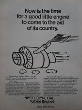 6/1975 PUB TELEDYNE CAE TURBINE ENGINES LCR / J69 ENGINE ORIGINAL AD
