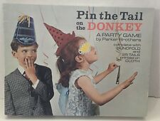 Vintage Pin The Tail On The Donkey Game Complete Parker Brothers