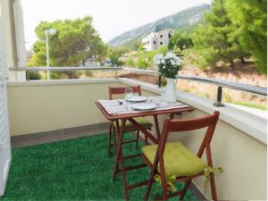 Indoor Outdoor Green Artificial Grass Turf Area Rug Patio with No Binding