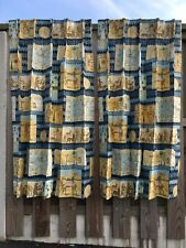 Superb quality Egyptian Theme lined curtains ~ 1 Pair
