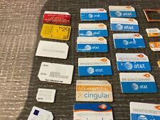 Huge Lot Of Multiple Gsm Nano Micro Full Cell Phone Sim Cards - Untested