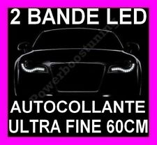 BANDE A LED SMD SOUPLE BLANCHE PHARE FEUX JOUR DIURNE FEU BLANC XENON SILICONNE