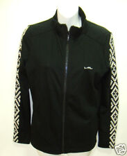 NWT Womens Ralph Lauren Active Knit Embroidered Mock Track Jacket LRL Black S