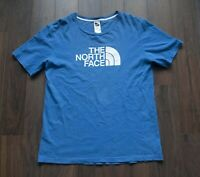 The North Face T Shirt Logo Blue Size M *F0711a4
