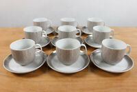 9 Kaffee Tassen & Untert. Arzberg Form 5500 Brasilia Dekor Amazonas Porzellan