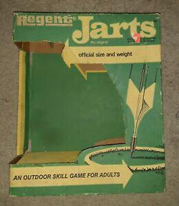 Vintage Regent Jarts Original Lawn Darts - Box Only