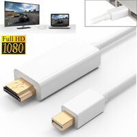 6FT Mini Display Thunderbolt to HDMI Cable Adapter For Surface/MacBook Pro iMac