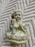 Vintage Blume Japan Angel Figurine W/ Candle Christmas Decor Holiday Decor EUC