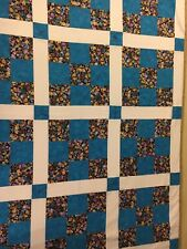 "Beautiful ""Hand-Made"" Machine Sewn Lap Quilt - 46"" X 35"""