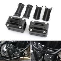Pair Motorcycle Engine Guard Crash Bar Protector Frame Slider Pads Black