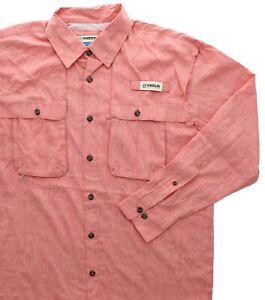 Magellan Men's Fish Gear Shirt Aransas Pass, Relaxed Fit, Moisture Wicking, LS