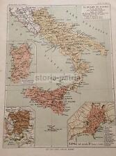REGNO DI NAPOLI_SICILIA_SARDEGNA_PUGLIA_MONTECASSINO_ANGIOINI_ARAGONESI_MAPPA