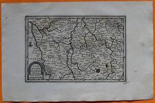 VAN DER AA Gravure originale c1725 CARTE DE LORRAINE NORD Metz Forbach Dieuze