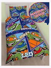Ninja Turtles Single Reversible Duvet Quilt Cover Set Kids Character Bedding