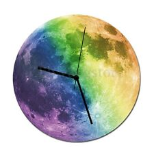 Modern 3D Wall Clock Moon Moonlight Glow In The Dark Luminous Clocks Home Decor