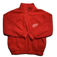 Vintage 90s Detroit Red Wings Logo Athletic Fleece Jacket Men's Size XL Red