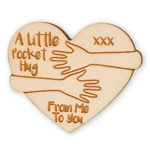 Little Pocket Hug Heart Token Keepsake Gift For Loved Ones Back to School Card