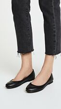 Women's Frye Carson Ballet Black Leather Flats 9