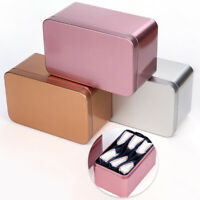 1pc Candy Cookies Boxes Tinplate Tin Box Metal Small Storage Box Tea Cans
