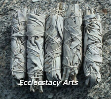 5 x White Sage Smudge Stick / Wands: House Cleansing Negativity Removal 4 to 5 ""