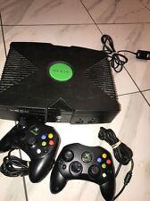 Original Microsoft Xbox Console+controllers AV cords Wireless Adaptor