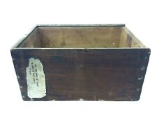 Antique Old Wood Wooden Storage Crate Box Decorative Woodenware Used
