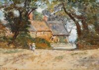 Fredrick McCubbin Cottage & Children  Best Canvas Prints - Framed Ready to Hang