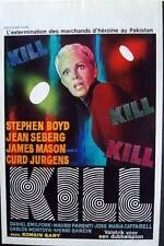 KILL KILL KILL! Belgian movie poster 14x22 JEAN SEBERG STEPHEN BOYD Mint