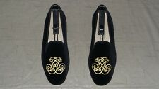 """RARE! Men's $495 Stubbs & Wootton Velvet """"EMBROIDERED"""" Slippers Loafers Shoes"""
