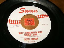 FREDDY CANNON - WHAT'S GONNA HAPPEN WHEN SUMMER'S GONE  / LISTEN - ROCK AND ROLL