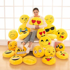 "20 Styles Emoji Emoticon Round Cushion Poo Stuffed Soft 12"" Pillow Plush Gift UK"