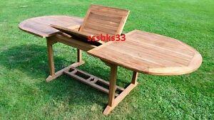 Teak Garden Furniture 8 Seat Oval Extending Table RRP £999 SPECIAL SALE!