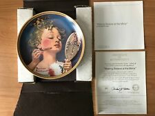 Making Believe at the Mirror by Norman Rockwell Collector's Plate