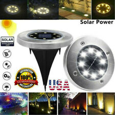 Led Solar Disk Lights Buried Light Outdoor Garden Under Ground Waterproof Lamp