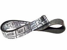 Metallic Ledergürtel Kroko Reptil Gürtel Wechselgürtel Buckles 4cm silber braun