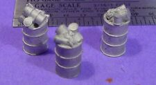 S SCALE Sn3 1/64 WISEMAN MODEL SERVICES DETAIL PARTS: S342 STEEL TRASH DRUMS