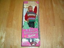 BARBIE - SPECIAL EDITION TREE TRIMMING BARBIE #22967-BLONDE HAIR-1998-NEW-NRFB