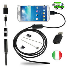 6 LED Endoscopio USB Micro USB Telecamera Ispezione per PC e Android 2m 5.5mm IT