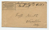 1850s New Graefenberg NY manuscript stampless with corner card [5246.363]