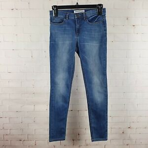 Country Road Skinny Jean Size 10 Indigo Blue Mid Waist Tapered Denim Trousers