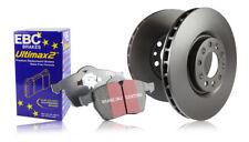 EBC Front Brake Discs & Ultimax Pads Renault Megane MK2 CC 1.6 (2005 > 10)
