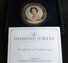 2012 GOLD PLATED PROOF 5OZ COOK ISL'S $5 COIN BOX + COA QUEENS DIAMOND JUBILEE