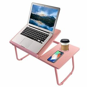 Home Bed Pink Laptop Standing Desk Portable Table Reading Compact Furniture