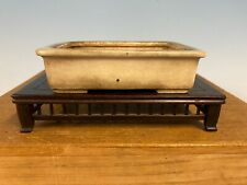 Rare Gold Tagaki Coll. Cream Shohin Size Glazed Bonsai Tree Pot Tofukuji 4 1/2�