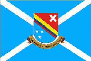 5x8 Embroidered Sewn 2ply San Andres Island Nylon Flag 5'x8'