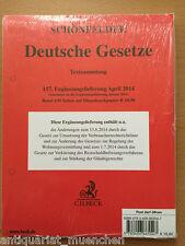 SCHÖNFELDER Deutsche Gesetze Textsammlung 157. EL 2014