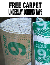 Cloud 9 Cumulus Carpet Underlay 11mm Thick + FREE Carpet Underlay Joining Tape!