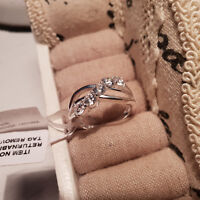 Stunning AAAAA Cr Diamond Five stone Ring In Sterling Silver